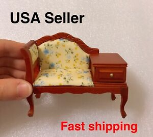 1:12 Dollhouse Miniature Victorian Sofa Lounge Couch Settee Furniture Drawer