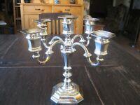 atemberaubender 5arm Kerzenhalter Kerzenleuchter Kandelaber silber pl England