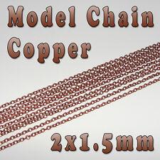 HOBBY MODELLO CHAIN - 2mm x 1.5mm - Rame Colore-al metro