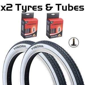 "20"" x 1.75"" Vandorm White Wall Retro Tyre For Raleigh Shopper/Fold Up Bike"
