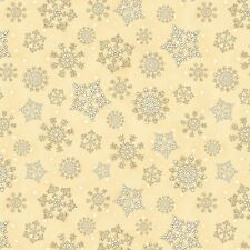 Reason For The Season~Wilmington Prints~BY 1/2 YD~Christmas~cream snow flakes