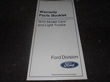 NOS 1970 FORD MUSTANG MACH 1 BOSS 302 429 TORINO OWNERS MANUAL SUPPLEMENT BOOKLE