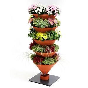 Vertical Garden XL terracotta: Urban Gardening Innovation - Hochbeet/Pflanzturm