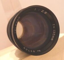 Telesar 1:2.8 F-135mm Camera Lens with Screw on Mount - Made in Japan