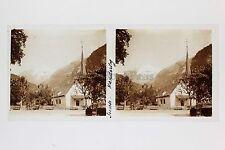 Suisse Kandersteg Plaque de verre Stéréo Glass Stereoview Vintage