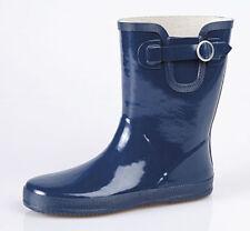 Block Heel Slip On Wellington Boots for Women