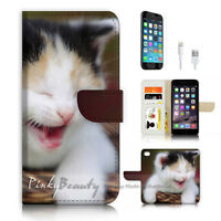( For iPhone 7 ) Wallet Case Cover P3913 Cute Pussy Cat