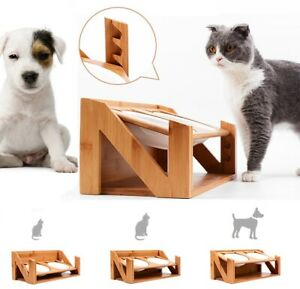 Premium Quality ADJUSTABLE Elevated Cat and Small Dog Raised Bowls Feeder