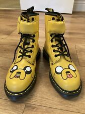 Dr Martens Adventure Time Jake Yellow Leather Boots Sz 6