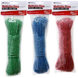 30 Metre Durable Polypropylene Nylon Rope Washing Line Cord Laundry Outdoor