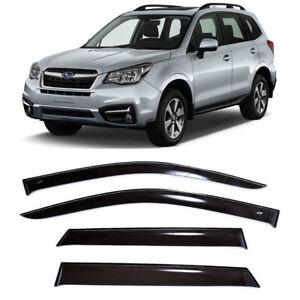 For Subaru Forester IV 12-17 Window Visors Side Sun Rain Guard Vent Deflectors