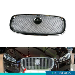 New Glossy Silver Front Grille Grill For Jaguar XF XFR V6 2012 to 2015 C2Z13199