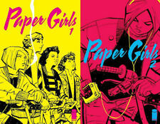 Paper Girls 1 2 lot Image Comics Vaughan Chiang optioned TV 1st printing