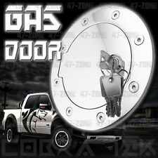 Chrome Fuel Gas Door w/ lock 97- 03 Ford  F150 F250 LD 99 - 11 F250 F350