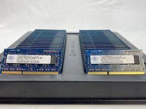 LOT 50 NANYA NT2GC64B88B0NS 2GB DDR3 PC3-10600 1333MHZ NON ECC SODIMM MEMORY RAM