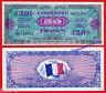 FRANCIA FRANCE 50 francs 1944 Military WWII Pick 122    XF+ / AUNC