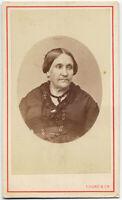 CDV Palermo Ritratto donna in ovale Albumina originale Studio Laisné 1865c S1558
