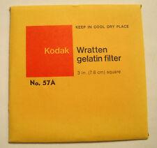 Kodak wratten GELATINA Filtro NO 57a 7.6cm OR 75mm Cuadrado