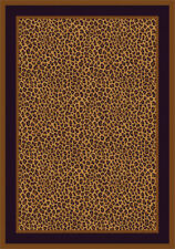 "5x8 Milliken Zimbala Leopard Modern Bordered Area Rug - Approx 5'4""x7'8"""