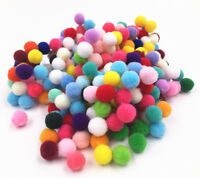 100-1000 pcs color Soft Fluffy Pom Poms Ball Assorted Childrens DIY Crafts 8mm