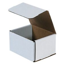 50- 5x4x3 White Corrugated Carton Cardboard Packaging Shipping Mailing Box Boxes