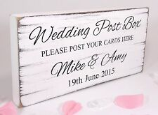Personalised - Wedding Post Box -Free Standing Table Sign - Shabby but Chic