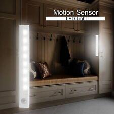 8 LED bajo el gabinete PIR Sensor de movimiento Stick-on Night Lamp Powered