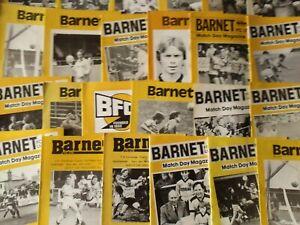 BARNET HOME PROGRAMMES SEASONS  1983/84 - 1988/89