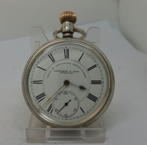 Superb 1892 Waltham silver 15 j. top wind mans open face pocket watch,accurate
