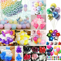 Lots Colorful Heart Round Latex Balloon Celebration Party Wedding Birthday Decor