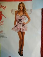 SEXY ADULT PINK BUTTERFLY HALLOWEEN COSTUME - FANTASY OUTFIT - SIZE: S/M