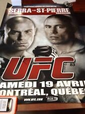 UFC 83 limited edition signed poster by GSP and Matt Serra