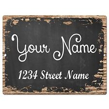 PP0416 Your Name Street Name Plate Sign Cafe Store Shop Home Room Wall Decor