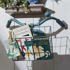 New listing Charming Vintage Style Bicycle Basket Magazine Rack or Garden Wall Planter