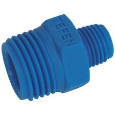 "PVC nylon & Polyprop piezas - 1/2 ""X 3/8"" BSPT Macho DESIGUAL Racor Azul 9-04570"