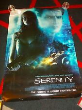 """SERENITY - Double Sided Movie Poster - FIREFLY - Nathan Fillion GLAU - 27"""" x 40"""""""