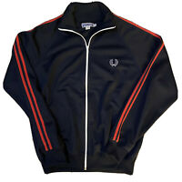 FRED PERRY Blue Track Jacket J1115 Made in Portugal Size 38 / MEDIUM