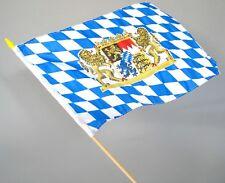 Bayernflagge mit Stab NEU