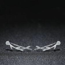 Sterling Silver Flowered Climber Earrings