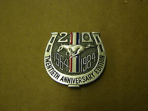 NOS 1984 Ford 20th Anniversary Mustang Dash Emblem Ornament