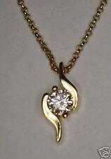 NEW 18ct YELLOW GOLD 1/4ct SI DIAMOND SOLITAIRE PENDANT
