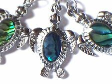 """PAUA SHELL TURTLE NECKLACE 18"""" CHAIN"""