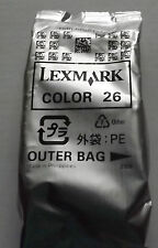 Genuine OEM Lexmark #26 10N0026 Color Ink Cartridge FREE SHIPPING