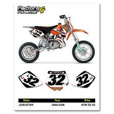 2002-2008 KTM SX 50 JDR/JSTAR Number Plates Graphics by Enjoy Mfg