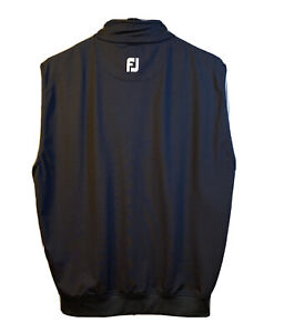 Footjoy FJ Golf Vest Mens Black Performance Half 1/2 Zip  Size Small