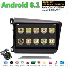 "For Honda Civic 2012-2015 9"" Android 8.1 HD Car DVD GPS Navigation Radio Player"