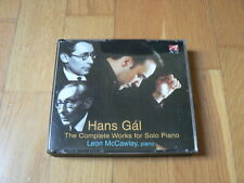 Hans Gal : Complete Works for Solo Piano - McCawley - 3CD Avie 2005