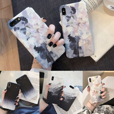 Simple Painted Marble Hard Phone Case Cover For iPhone X XR 6s 7 8Plus Xs Max