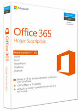 Software Microsoft Office 365 Home 32/64bits Spanish
