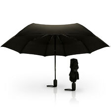 Schwarz Auto Winddicht Regenschirm Taschenschirm Kompak Umbrella Stockschirm